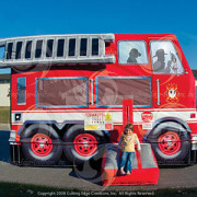 <strong>FIRE TRUCK BOUNCER</strong> – 14′ X 11′ X 10′<br/>The Fire Truck bouncer is sure to bring smiles to the littlest guests at your next event. It makes a perfect companion to our Lil Pumper slide and is also a great choice when space is limited.