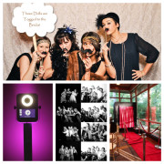 <strong>Photo Kiosk</strong><br/>Say cheese!  Our photo kiosk is sleek and modern.  If you're tired of the traditional box photo booths or limited on space this is a perfect choice.  The kiosks can be set in any location and rental includes photo strips, props and a thumb drive of all images.  A black booth can be added to the kiosk rental.