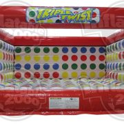 <strong>Triple Twist</strong><br>The Triple Twist is a new take on a classic game.  In this version, players can use the floor and sides of the Twister arena to bend and twist themselves toward the color being called.  Variations of this game allow for endless possibilities and its fun for all ages!  20' X 20' space required.